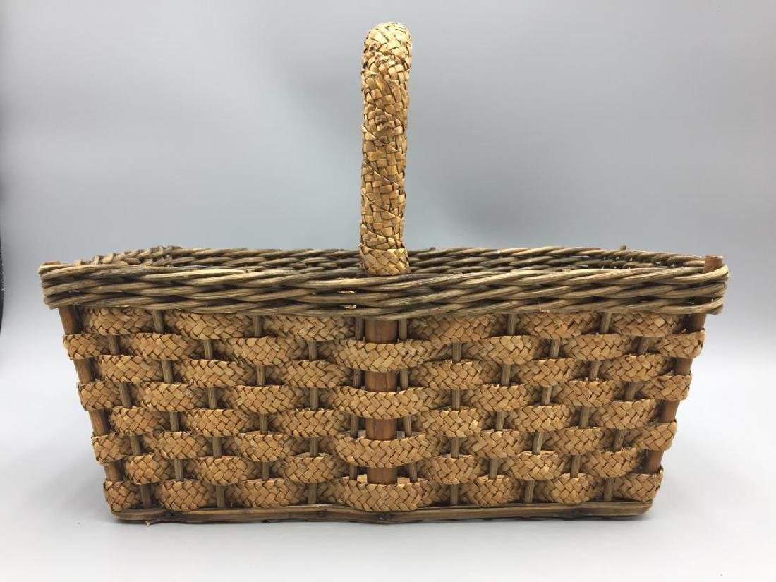 Early wicker advertising basket - 2