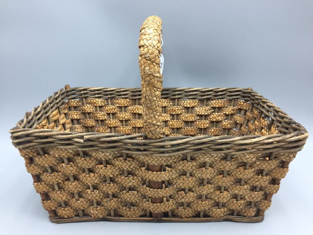 Early wicker advertising basket - 4