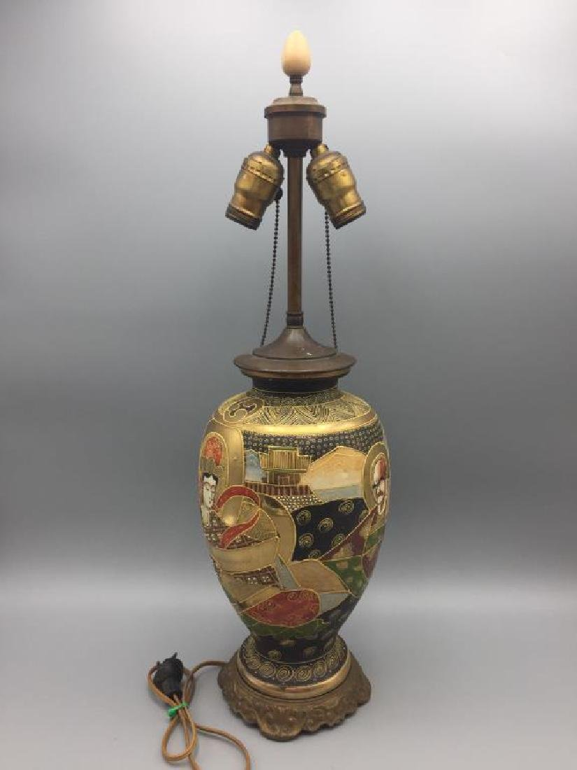 Satsuma vase lamp - 2