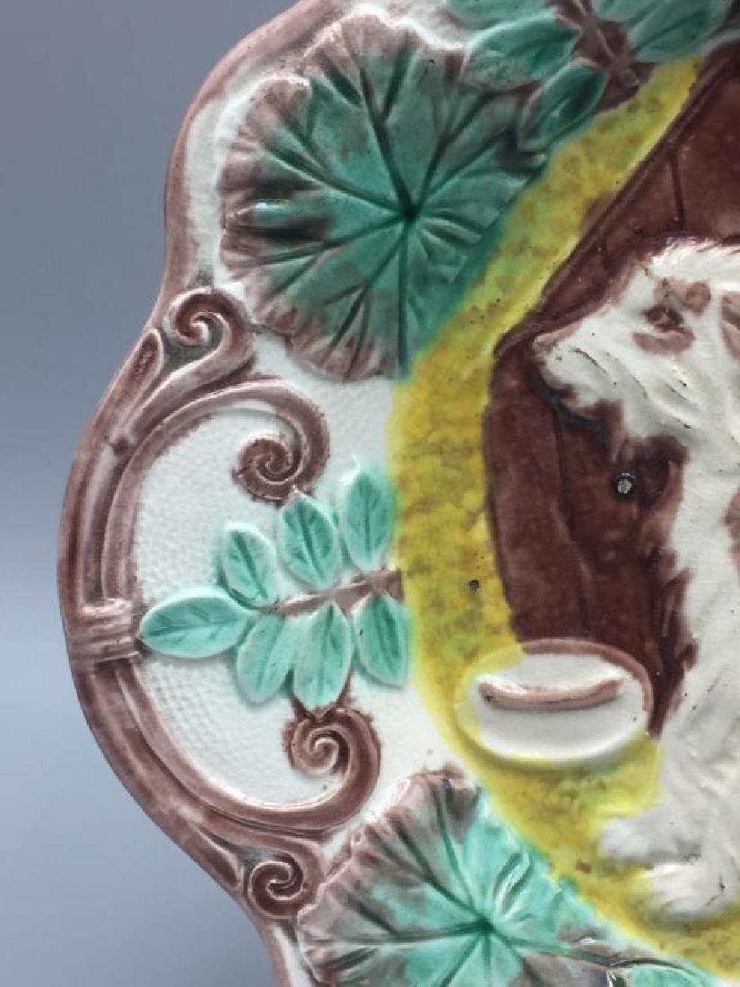 Majolica dog plate - 2