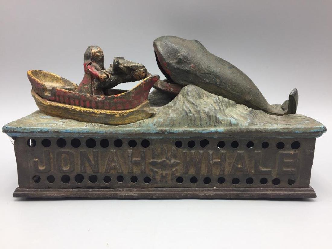 Jonah and the Whale mechanical cast iron bank