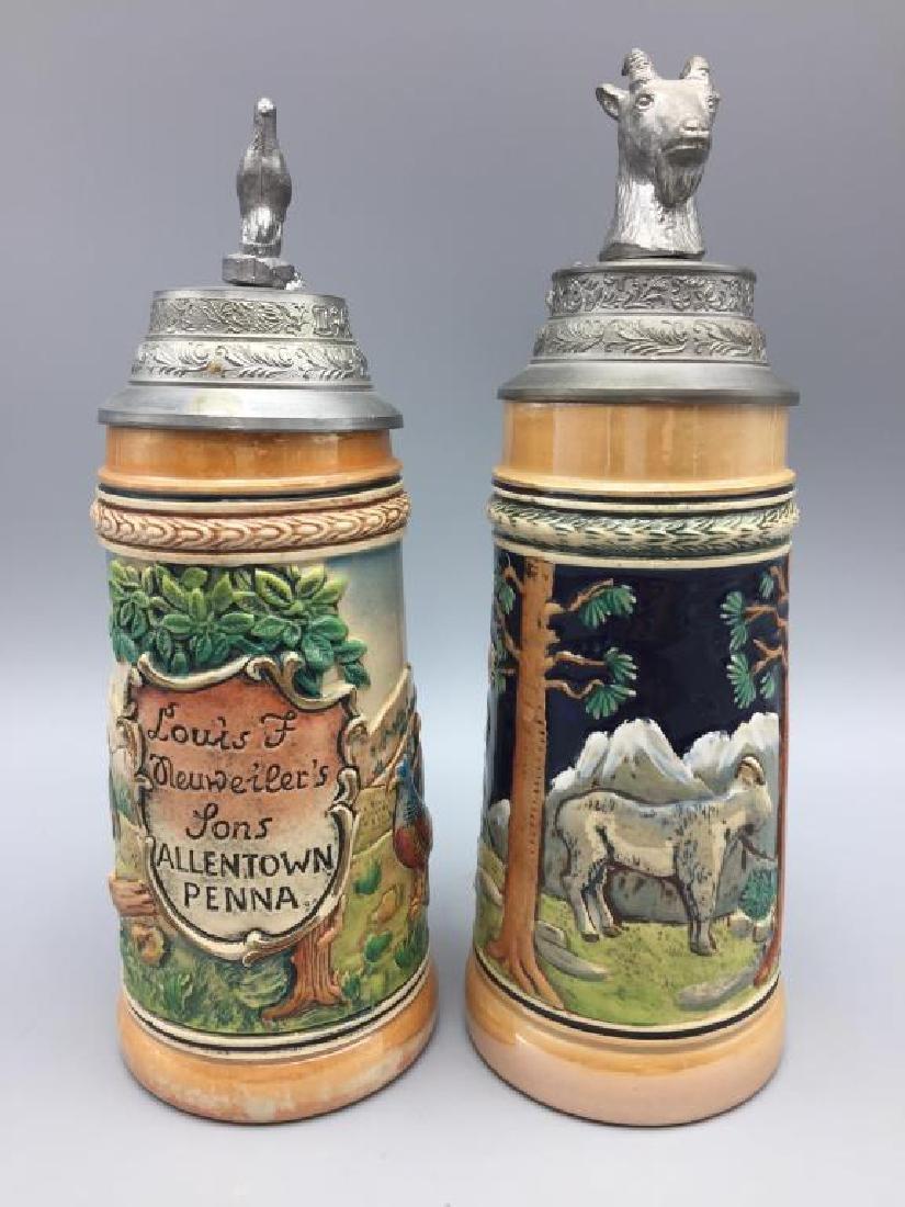 Two Neuweiler German beer steins