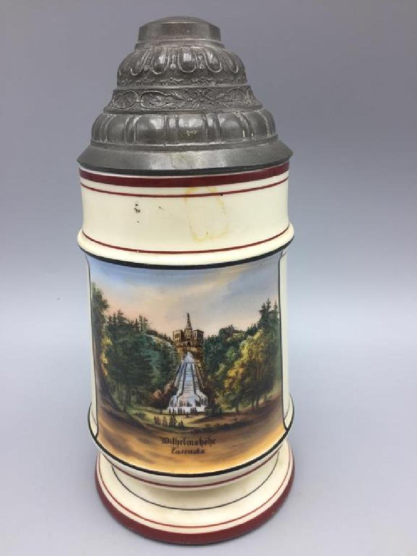 German Lithopane beer stein