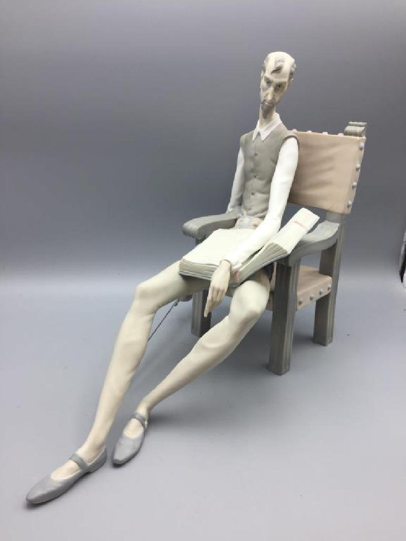 Lladro Don Quixote sitting in chair - 2