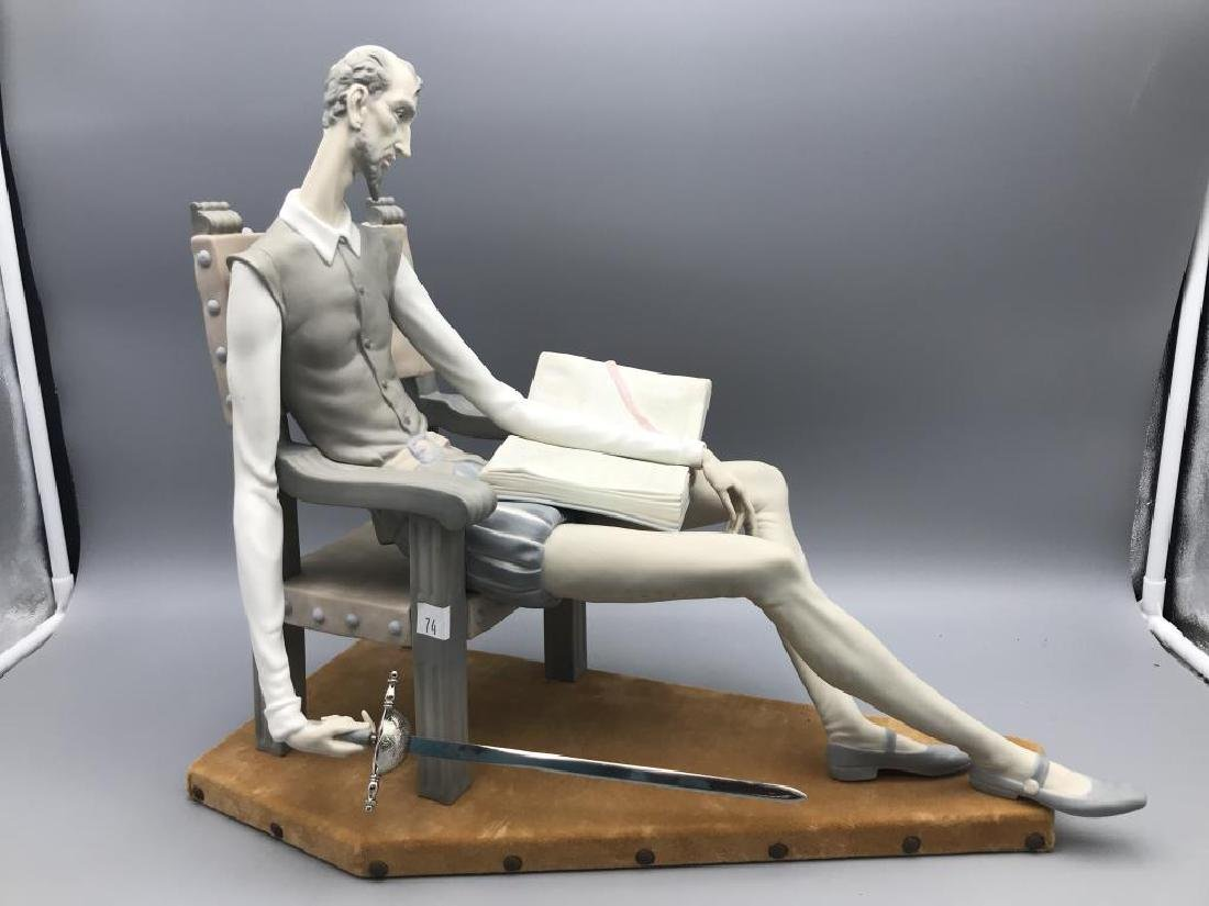 Lladro Don Quixote sitting in chair - 7