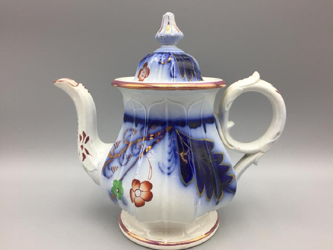 Gaudy Welsh teapot