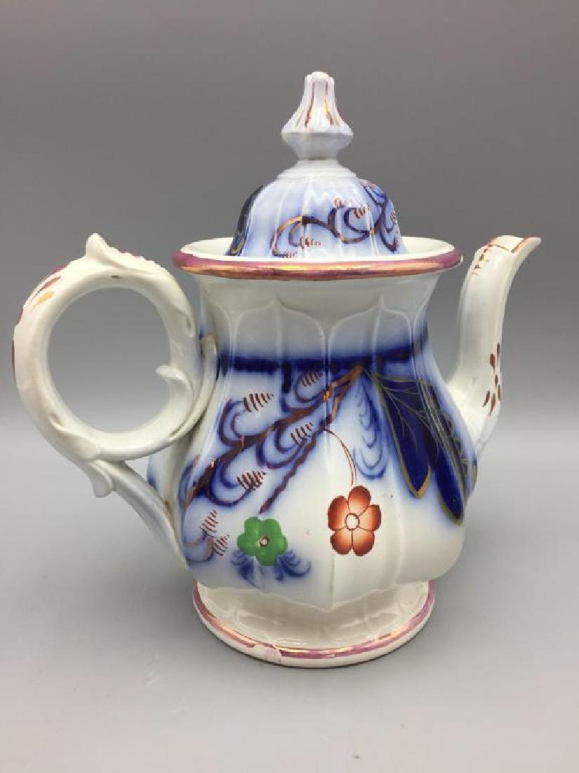 Gaudy Welsh teapot - 2