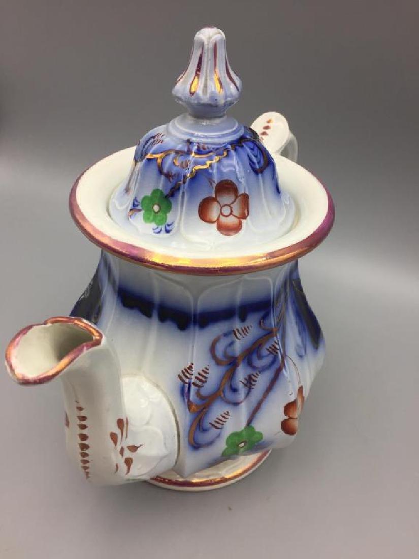 Gaudy Welsh teapot - 3