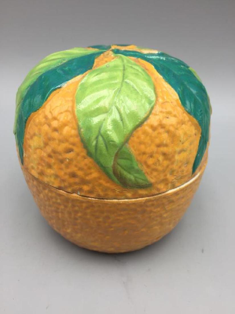 3 Orange porcelain serving pieces - 7