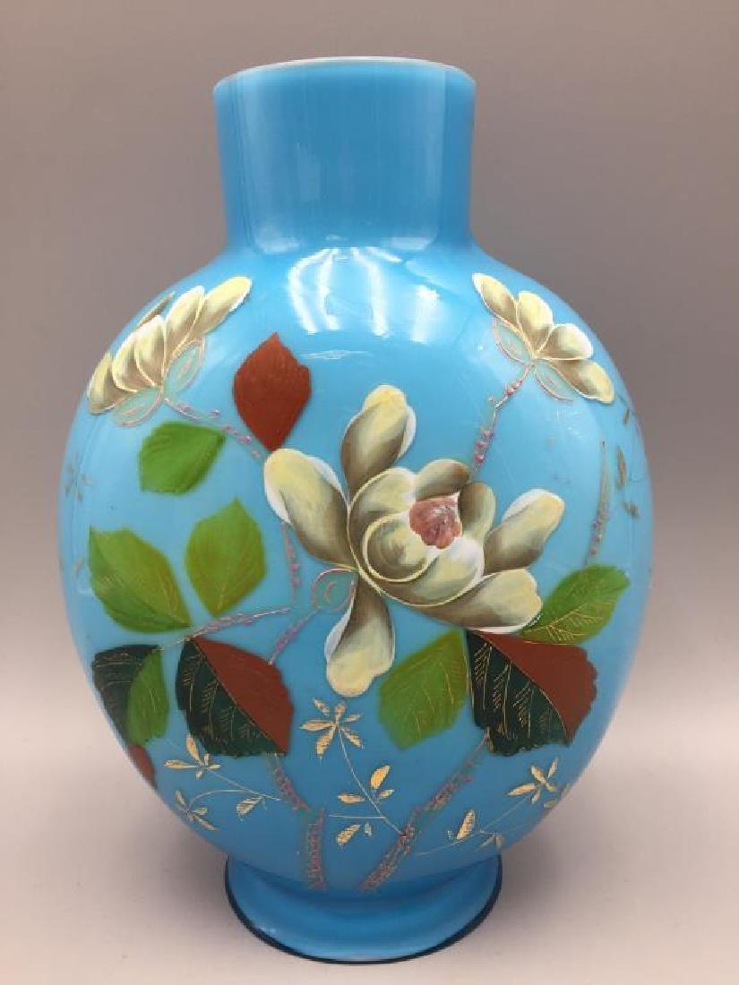 Cased glass vase and 2 Bristol vases - 2