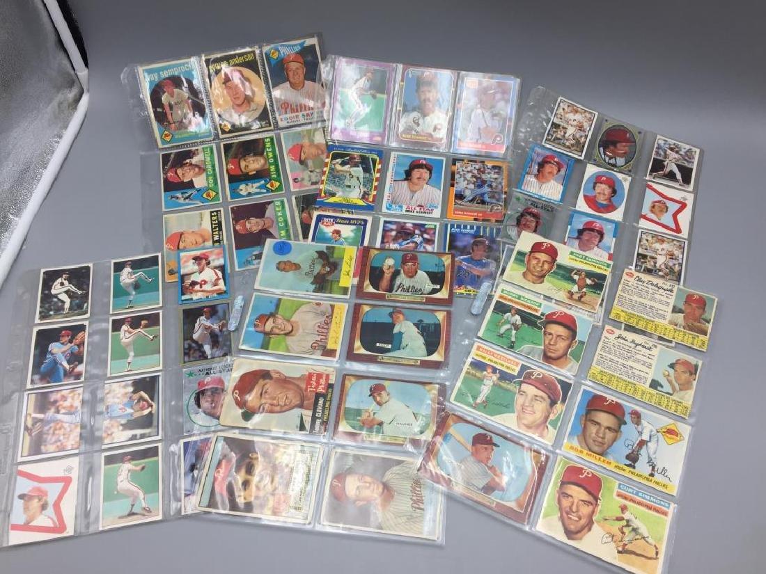 1950s 1960s Philadelphia Phillies baseball cards - 4