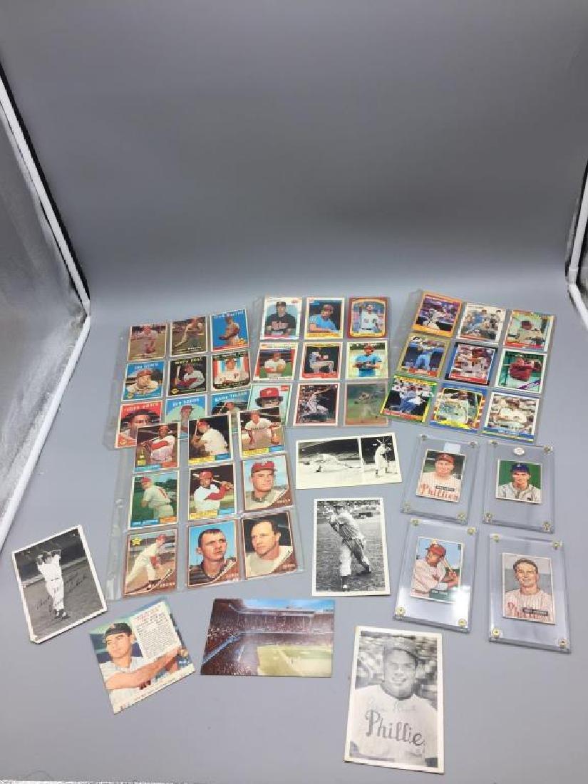 1950s 1960s Philadelphia Phillies baseball cards - 5