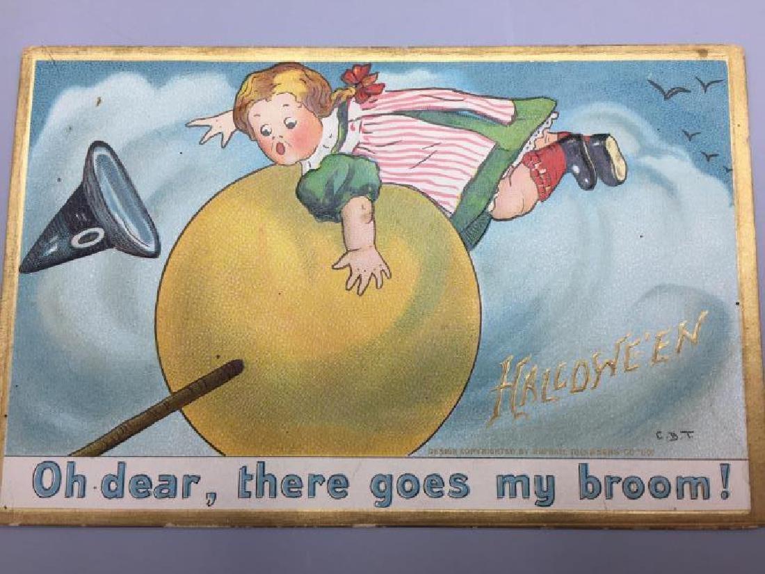 Raphael Tucks Halloween postcard; - 4