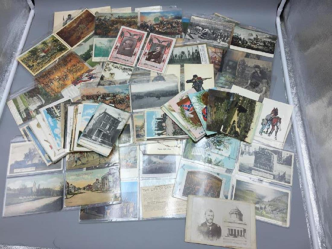 150 plus Civil War post card lot
