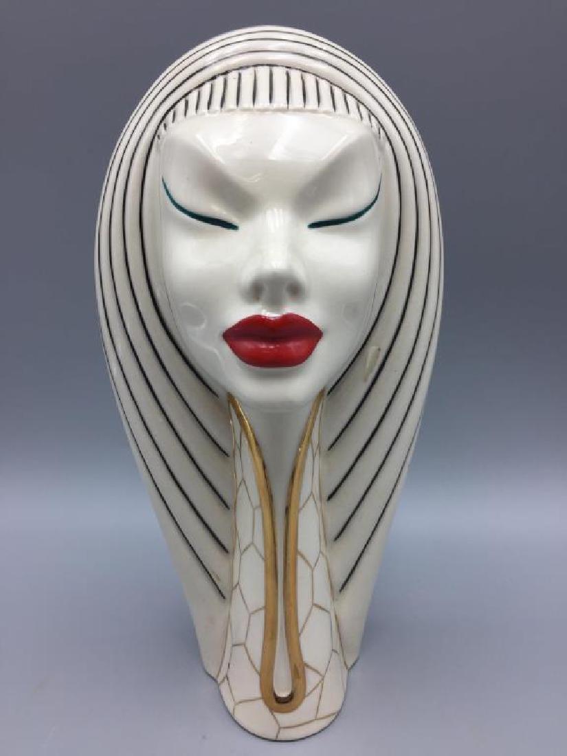Art Deco porcelain lady head decanter