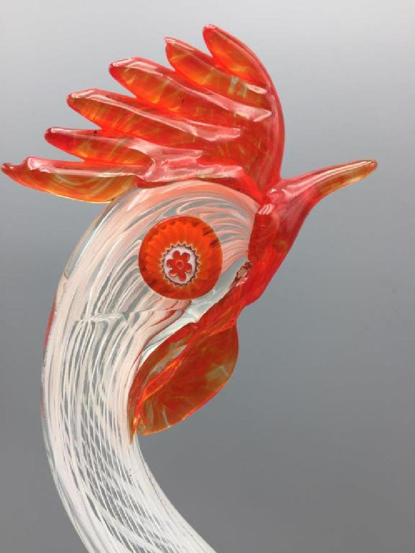 Murano glass rooster and fish - 6