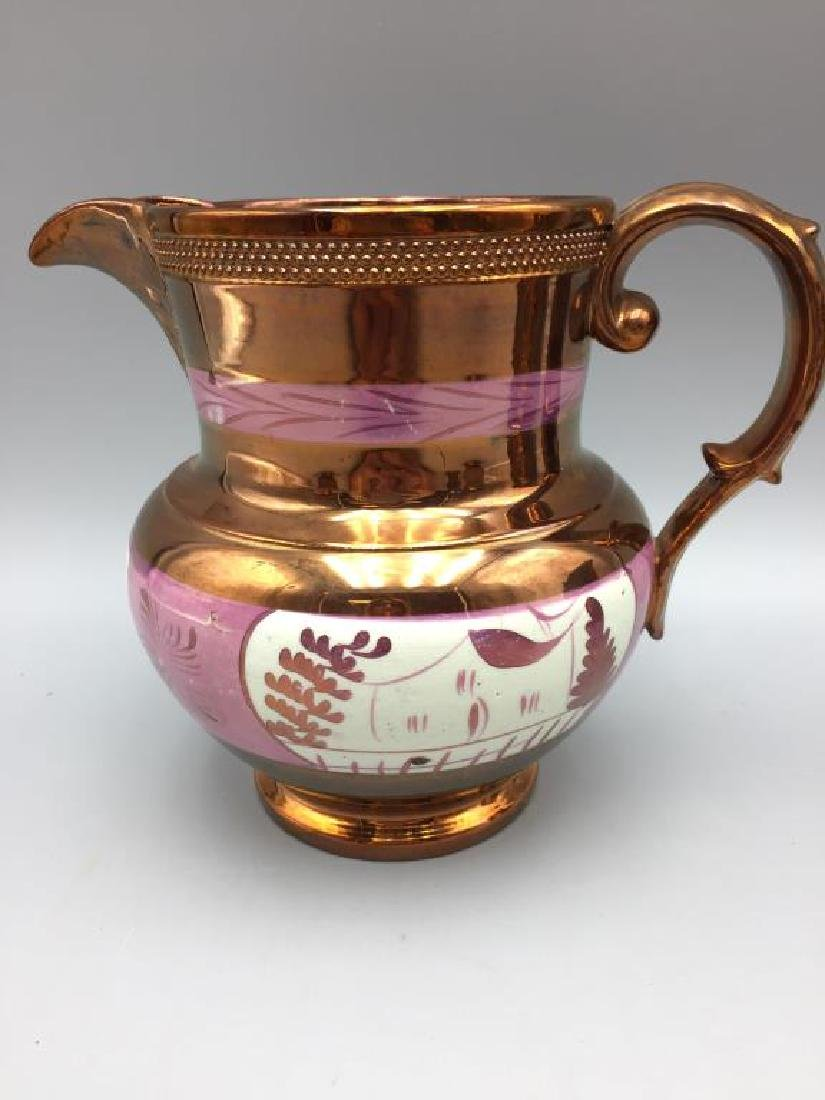 5 Copper Luster pitchers - 2