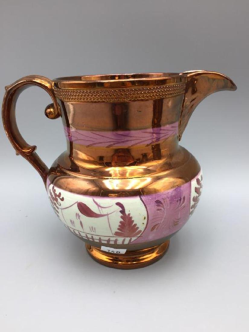 5 Copper Luster pitchers - 3