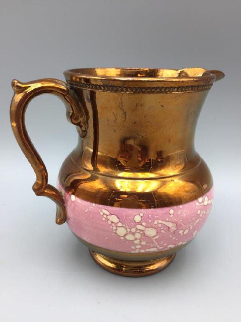 5 Copper Luster pitchers - 9