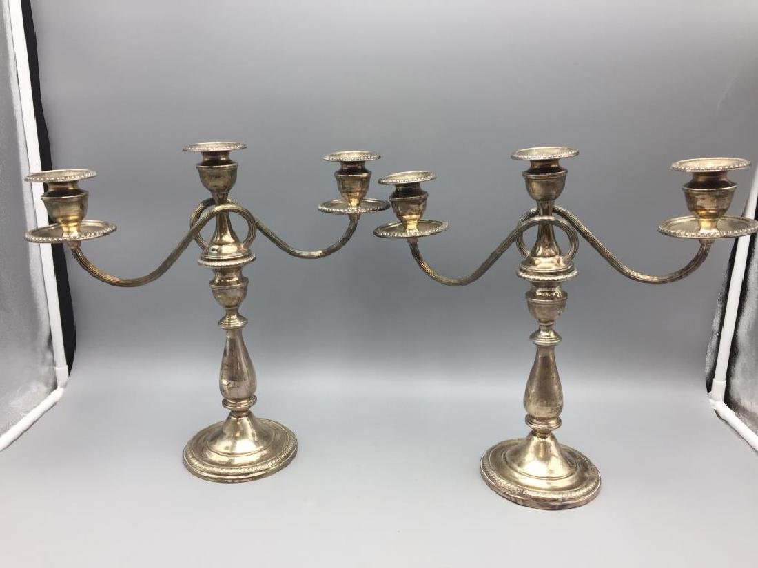 Weighted sterling silver candelabra