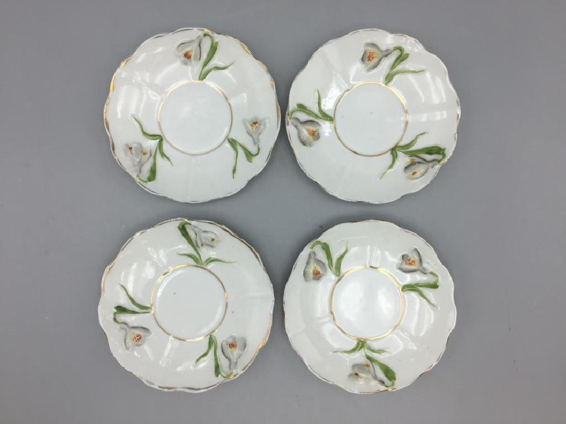 Porcelain floral chocolate pot set - 5
