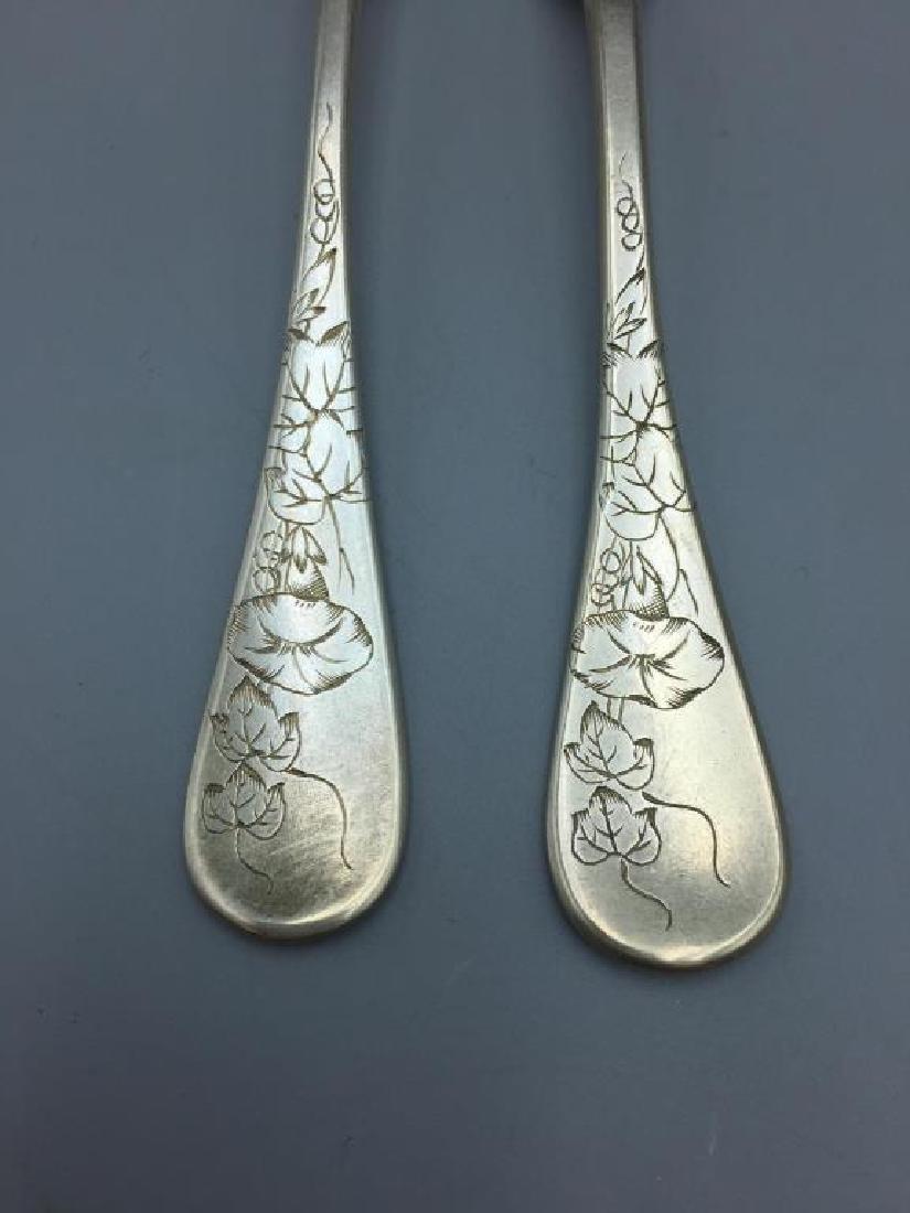 Tiffany three piece flatware set - 2