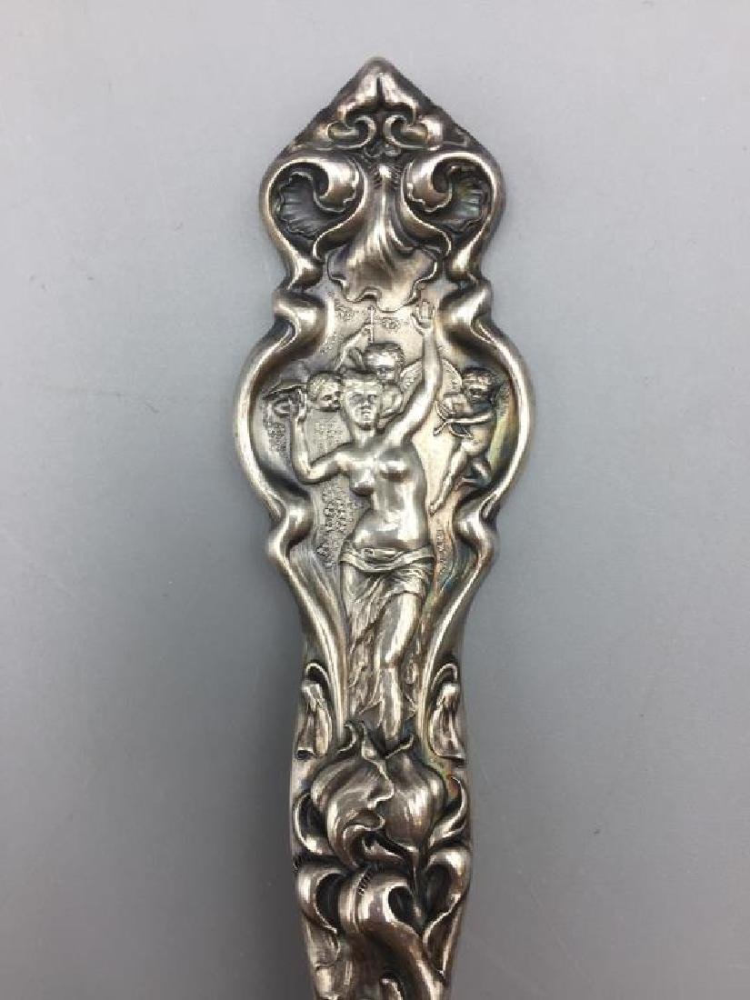 Ornate Sterling serving fork and spoon - 2