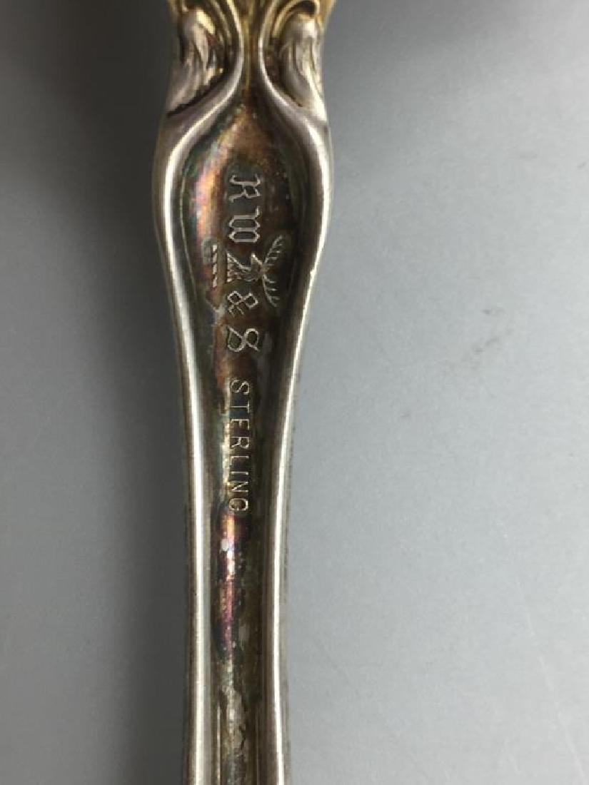 Ornate Sterling serving fork and spoon - 4