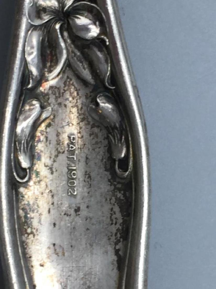 Ornate Sterling serving fork and spoon - 5