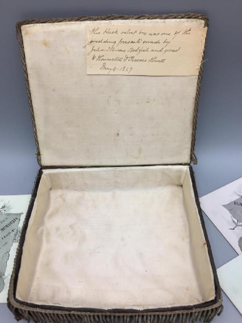 Victorian dresser box w/ hand sewn samples - 3
