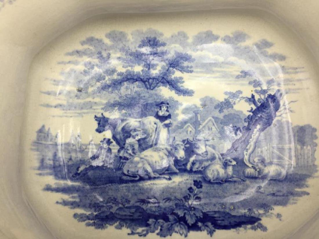 Blue and white  transfer ware tureen - 3