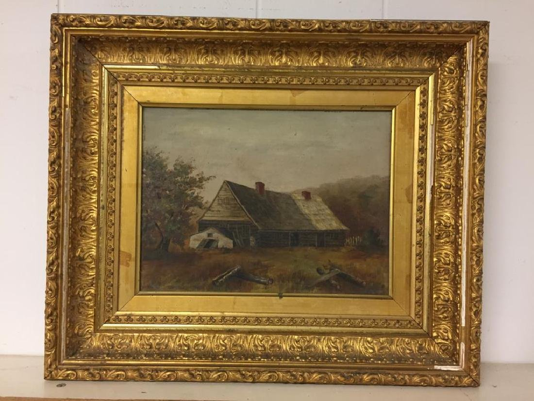 Early painting of cabin