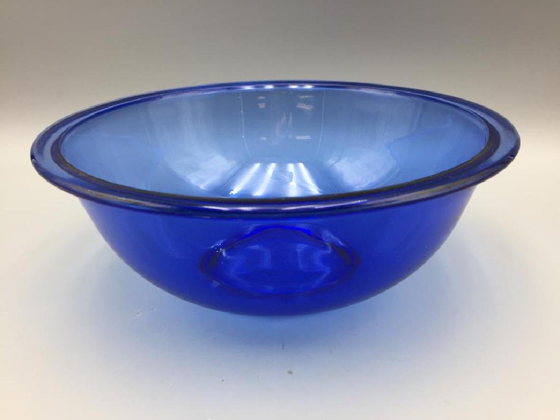 Depression glass blue mixing bowls - 2