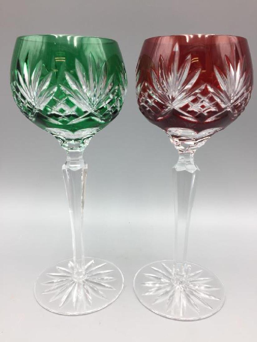 6 cut to clear wine glasses - 4