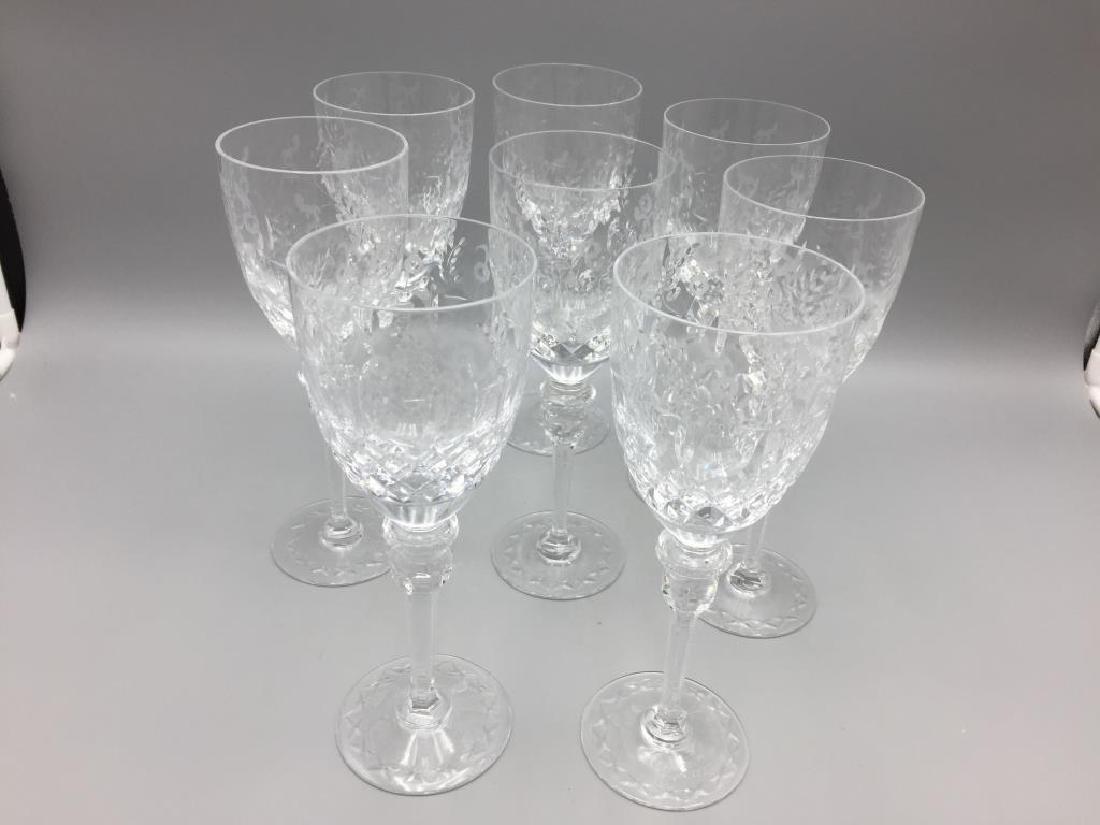 8 Rogaska wine glasses