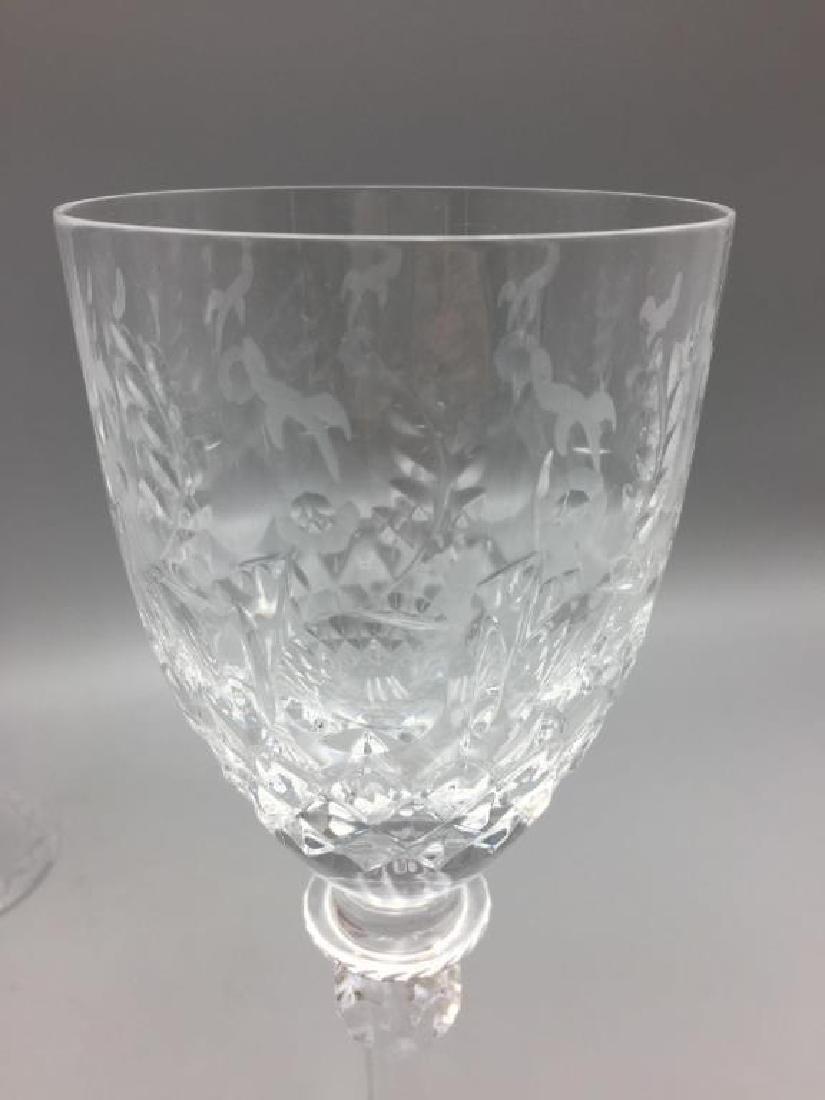 8 Rogaska wine glasses - 3