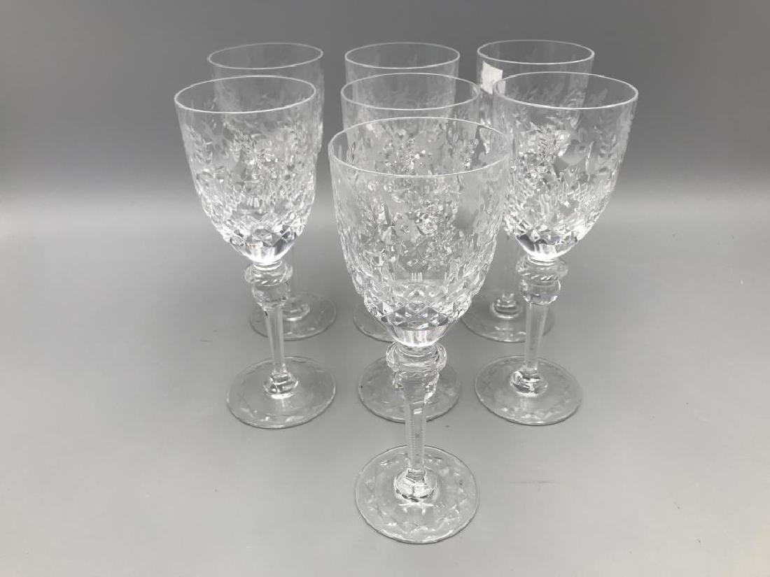 7 Rogaska wine glasses
