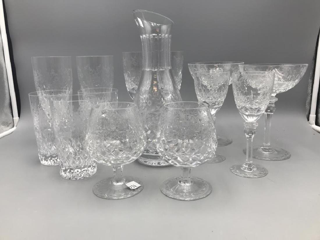 Rogaska decanter & 13 glasses