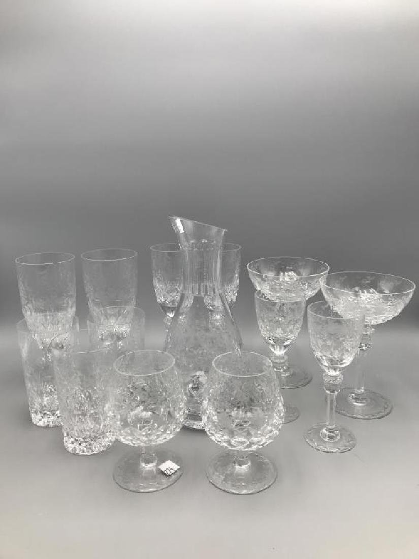 Rogaska decanter & 13 glasses - 2