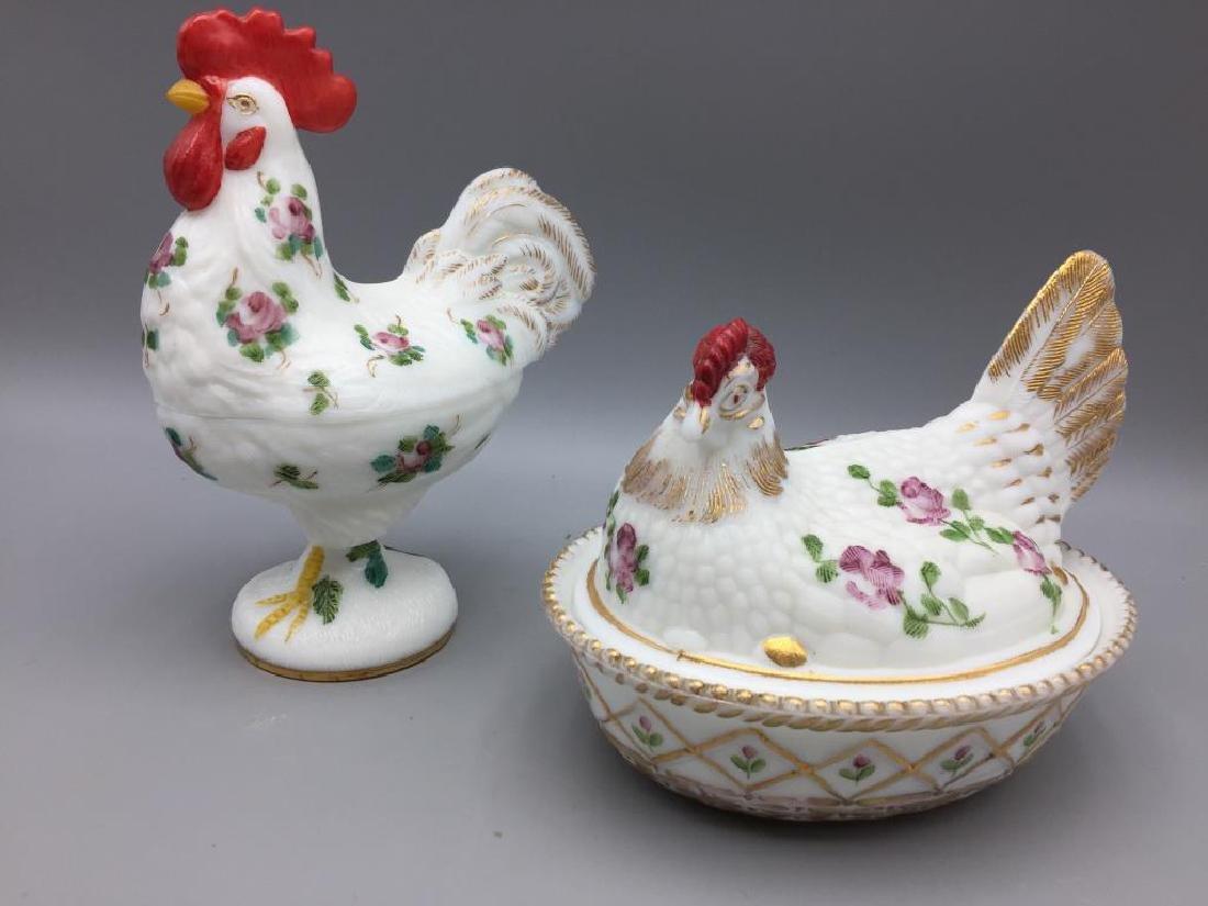 2 Hens on nest