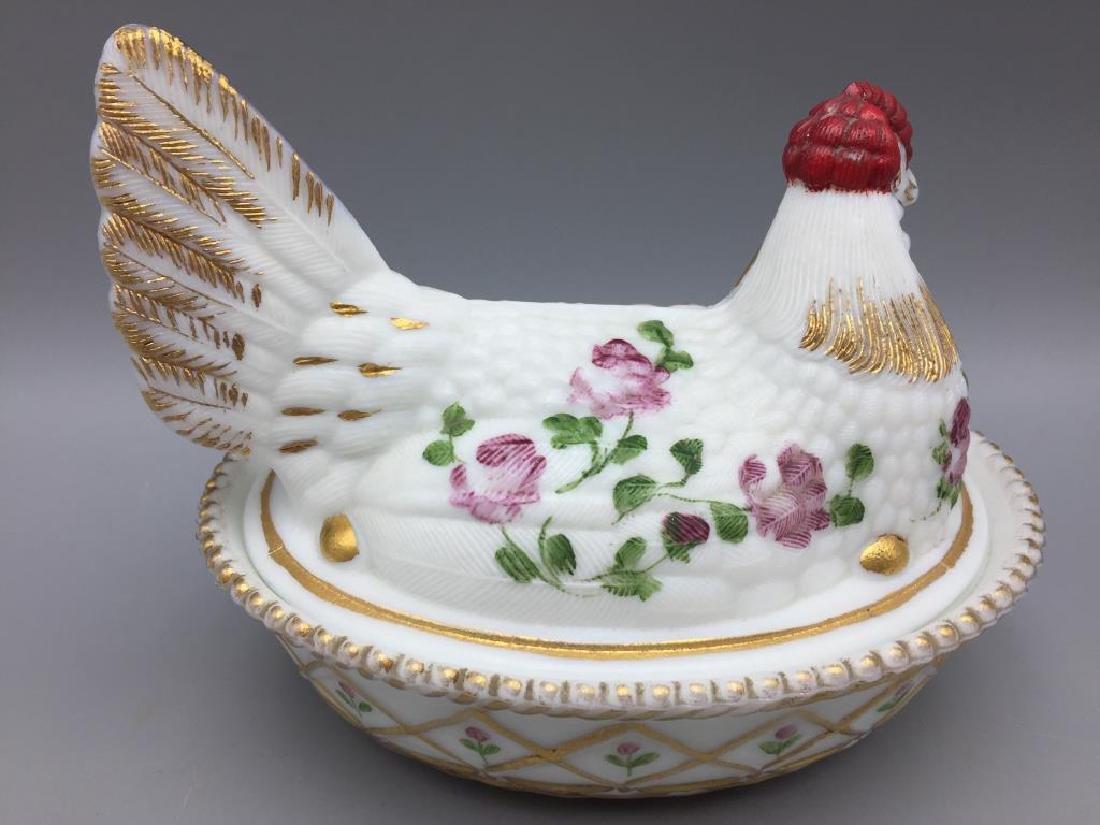 2 Hens on nest - 6