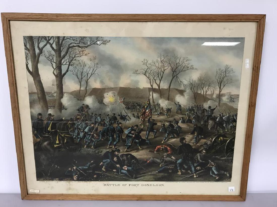 3 Civil war scene prints