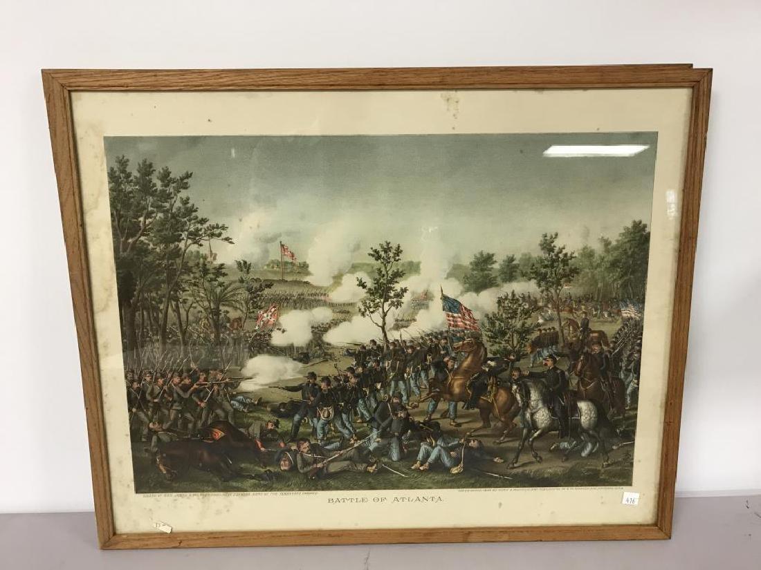 3 Civil war scene prints - 2
