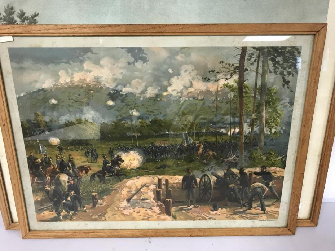 3 Civil war scene prints - 3