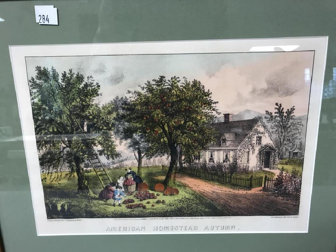 2 Currier & Ives prints - 2
