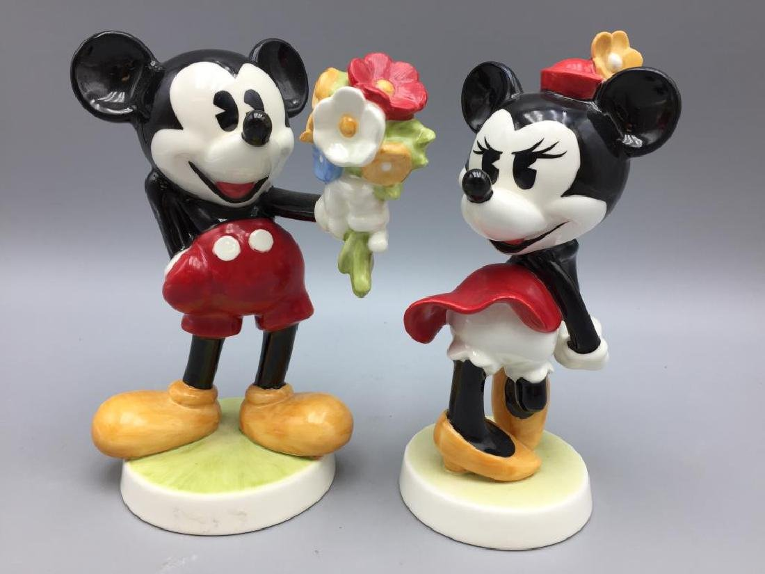 Mini and Mickey Mouse porcelain Goebel figurines
