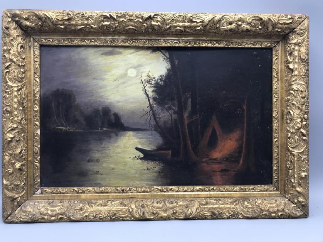 Oil on board in gilt frame - 2