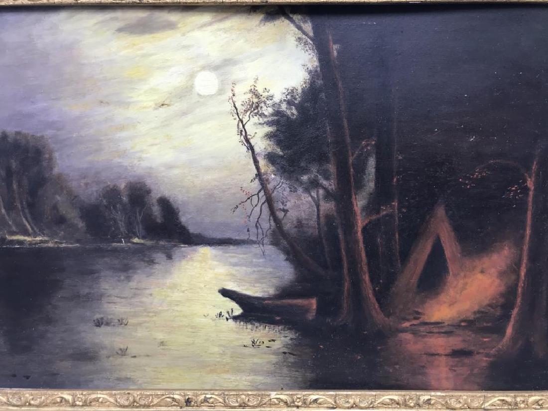 Oil on board in gilt frame - 3