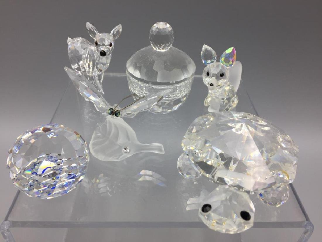 Lot of six Swarovski crystal items