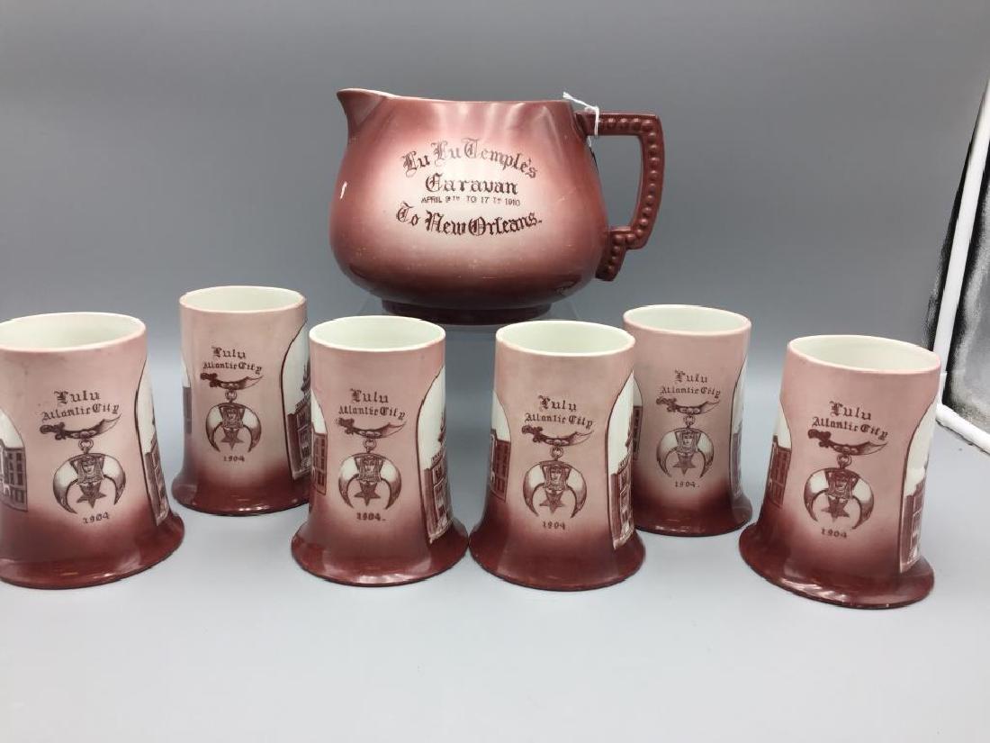 Seven piece Masonic cider set